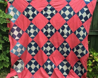 Antique American Quilt Top - 19th Century - Shoo-Fly
