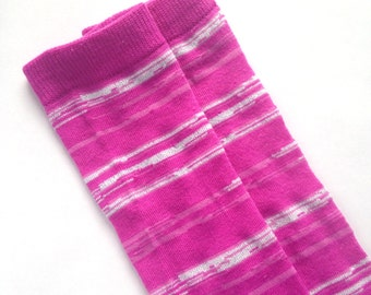 Pink and Silver Baby Leg Warmers- Baby Accessories, Baby Girl, Leggings