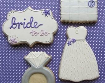 Bridal Shower Sugar Cookies - 1 Dozen