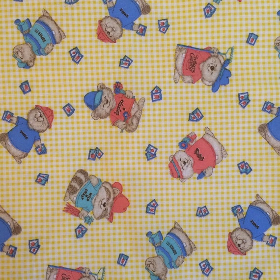 Shirt tales vintage nursery fabric nursery fabric for Retro nursery fabric