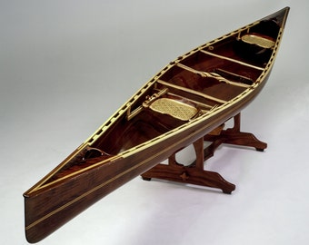 "Wooden Canoe, 19' 8"" Tandem ""Whistlewood"" Model with Premium Trim, built in 1999"