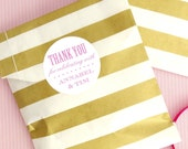 Personalised Wedding Favour Stickers