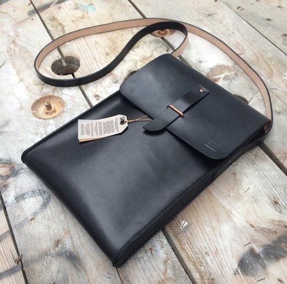Handmade leather macbook air bag