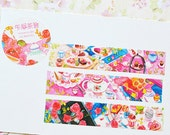 Designer personal special Custom made paper masking tape - Limited Edition Afternoon Tea Rose Party Girl talk 1 ROLL