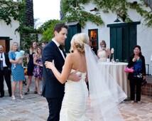 "fingertip veil with horsehair trim wedding veil with 2"" horsehair trim fingertip wedding veil bridal veil crinoline trim 2 tier veil"