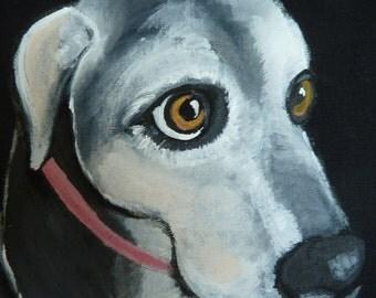 Labrador Dog Tote Bag-Black Lab Tote Bag-Original Art-Hand Painted-One of a Kind