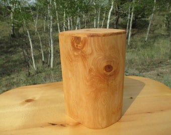 Alligator Juniper Wood Log Memorial Keepsake/ Pet Urn