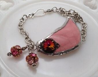 Broken Pottery Bracelet Pink