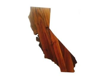 "California ""Lake Tahoe Love"" Walnut Wall Decor"