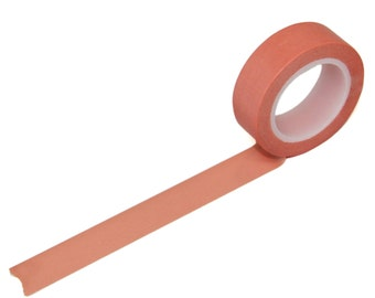 Salmon Washi Tape, 15mm x 10m, Coral Pink Masking Tape