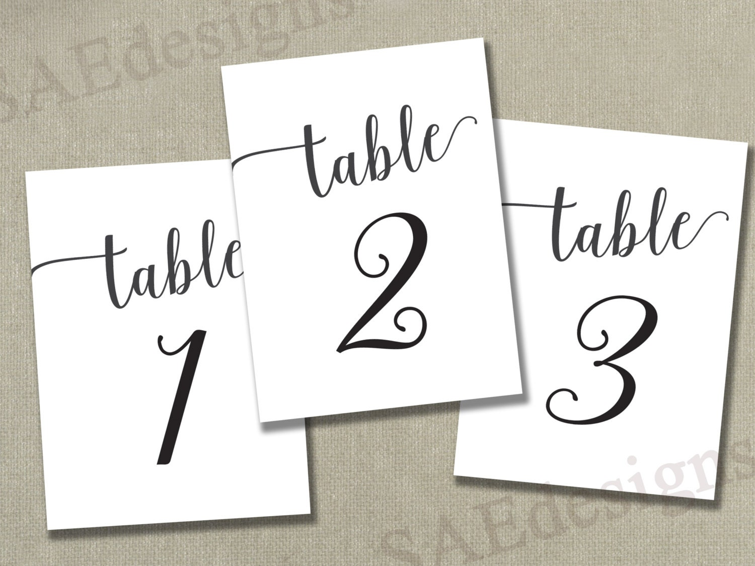 Insane image in free printable table number