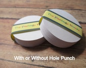 "50 White 2"" Round Paper Tags (with or without hole punch)"