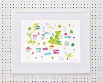 Balham, Tooting & Streatham Art Print