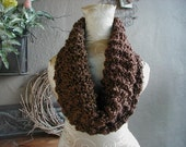 Hand Knit Cowl, Scarf, Neck Warmer, Soft Chunky Cowl