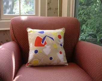 Retro Look Reversible Pillow