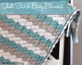 PDF Crochet Pattern - Shell Stitch Baby Blanket