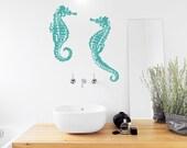 Seahorse Wall Decal - Seahorse Decal, Seahorse Sticker, Seahorse Decor, Underwater Decal, Ocean Decal, Nursery Ocean Art, Seahorse Wall Art