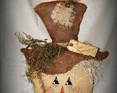 Primitive Scarecrow Head Fall Centerpiece