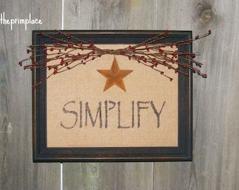 PRICE REDUCED-Primitive Wall Hanging Simplify