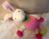 Personalized musical box MISS BUNNY for babies and pregnant women toy nursery individualized