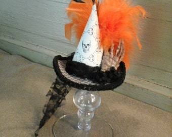One of a kind mini witch hat Halloween  hat costume or cosplay or decorative collectible