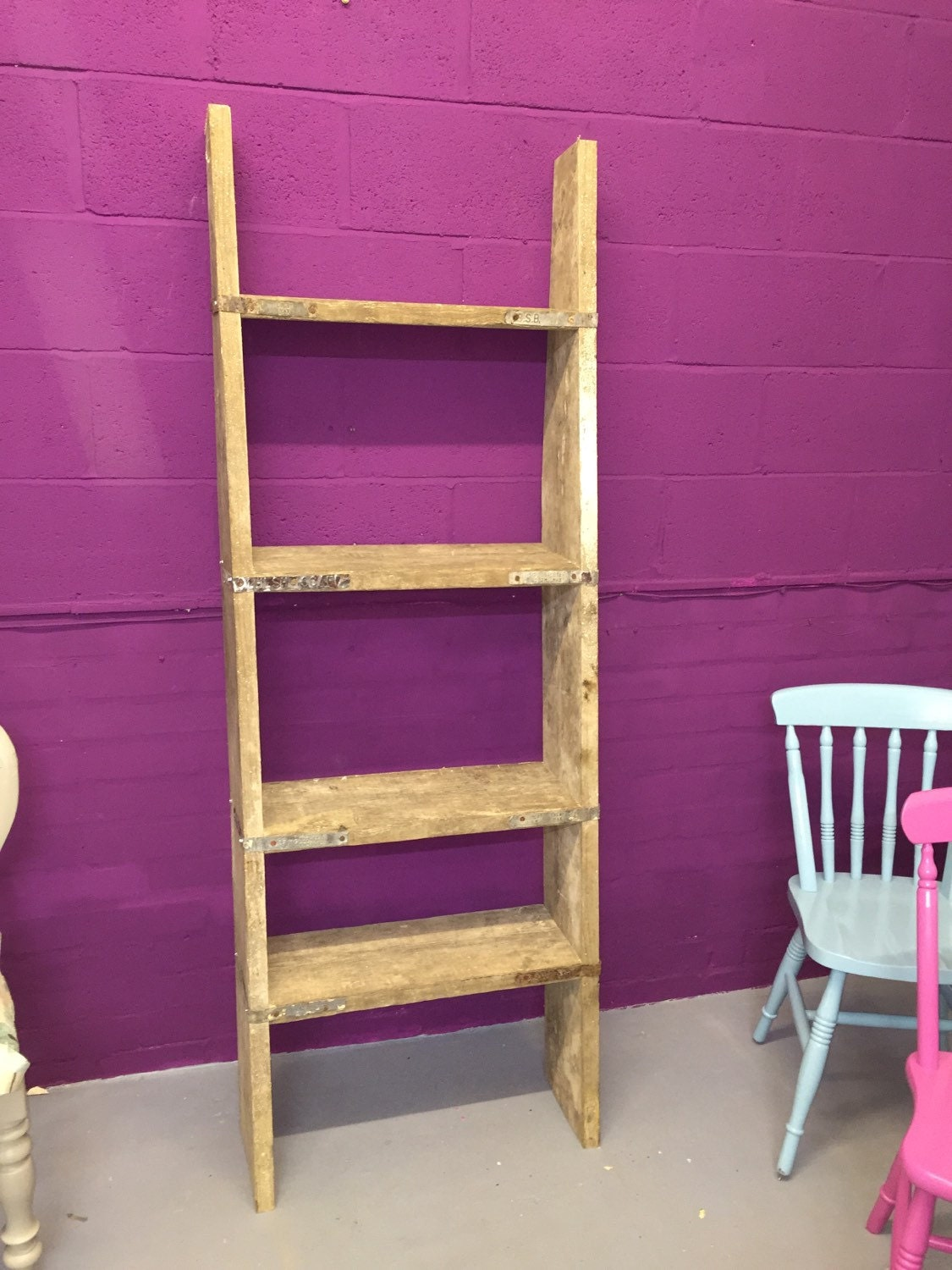 Reclaimed Scaffold Board Wall Shelf Unit By Grannyplum On