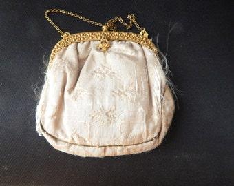 Vintage Silk Bridal Clutch #L004