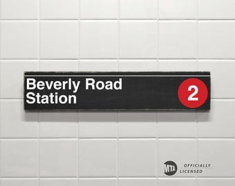 Beverly Road Station - New York City Subway Sign - Wood Sign