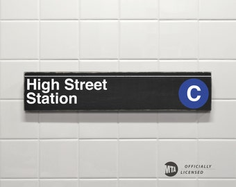 High Street Station - New York City Subway Sign - Wood Sign
