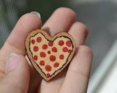 Heart Shaped Pizza Pin