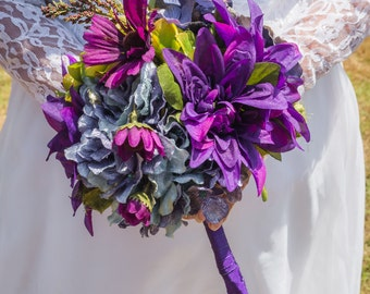 Clearance! Purple, Green and Blue Bouquet ( Great Keepsake )