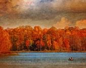 Autumn Lake, Landscape Photography, Nature Photo, Fall Scenery, Reflections, Painterly, Lake Photo - Fishing - Wall Art - Home Decor
