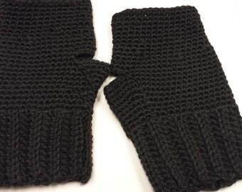 black wrist warmers, ear warmers/headband, includes scarf