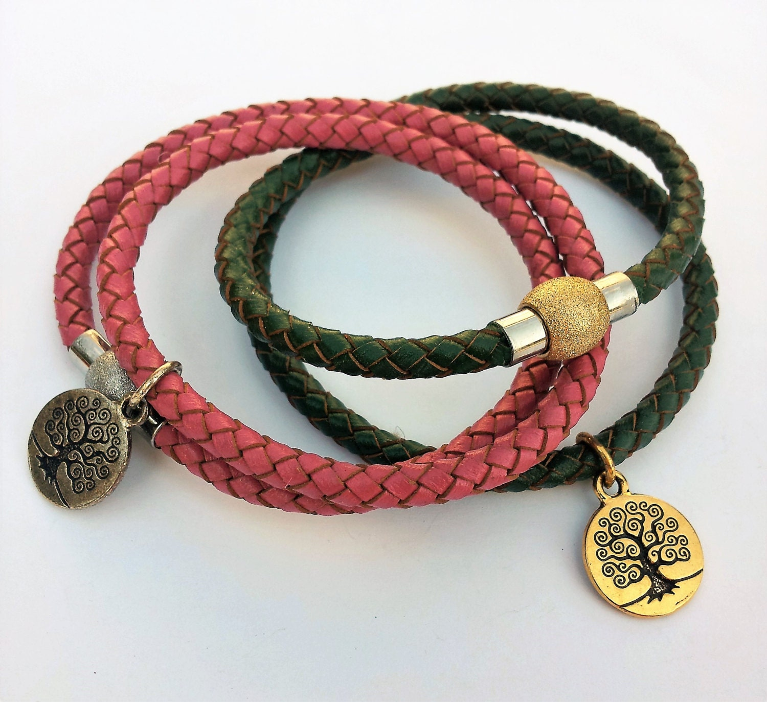 Leather Bracelet With Charms: Leather Bracelet Teen Jewelry Boho Bracelet Charm