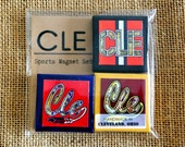 CLE SPORTS - Browns - Cavs - Indians - Mini Canvas Magnet set