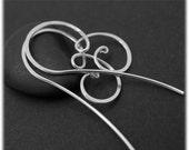 Small silver hoop earrings - Swirley silver hoop - Feminine earrings