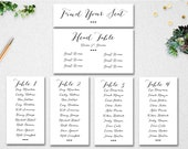 bridal shower seating chart template - editable table seating chart instant download navy