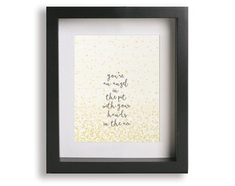 Wounded / Third Eye Blind - Song Lyric Art Print, music poster, home decor, wall art, wall decor, custom typography print, gift idea