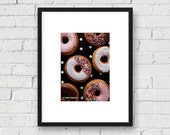 Food Art, Donuts and Polka Dots: 5x7 Matted Photo