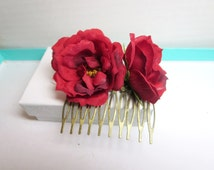 Flower bobby pin -Wedding Bohemian Hair Piece -bridal accessories, flower hair comb, bridal hair flower
