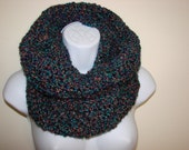 purple teal cowl, crochet cowl, infinity scarf, winter scarf, woman scarf, unisex scarf men scarf, Christmas gift, hooded cowl