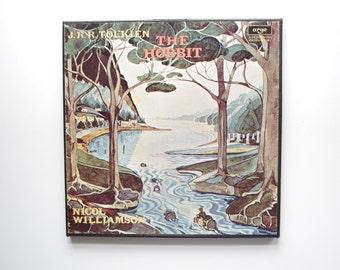 The Hobbit by J.R.R. Tolkien 4LP Record Set - Read by Nicol Williamson - With Booklet, 1974 Argo/Decca Records