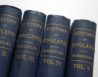 The History of England By Thomas Babington Macauley - 5 Volumes - Porter & Coates Publisher