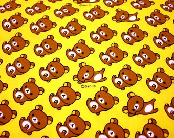 San X Rilakkuma Bear / Japanese Cartoon Fabric 110cm x 50cm