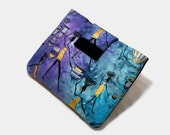 Tablet Case, iPad Cover, African, Tribal,  Kindle Fire Sleeve, Galaxy, Nook Case,  Sleeve, Cozy, Handmade, FOAM Padding, Purple and Blue