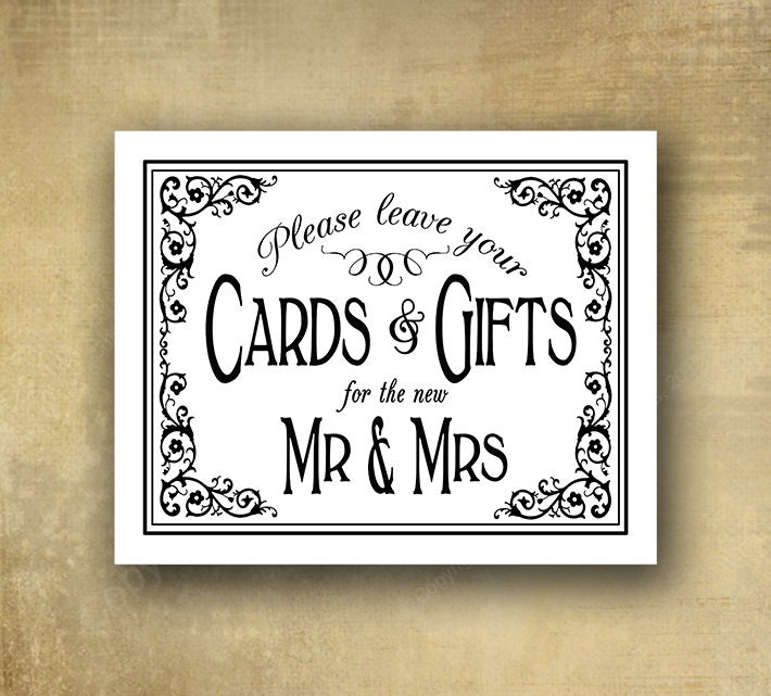 Cards And Gifts For Mr Amp Mrs Wedding Sign By BeforeYouSayIDo