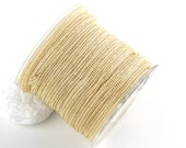 Light Gold, Italian Titanium Mesh Cord, 3mm Titanium Cord, 1 meter-39''-1.09 yard- Cord Supplies // CRD-021