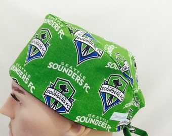Unisex Scrub Cap - Seattle Sounders Scrub Cap - Scrub Hat - Scrub Cap - Doctors Gift - Nurses Scrub hats - Tech Caps - Nurse's Gift