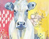 Mr. Cow - Fine Art Print - Cow Painting