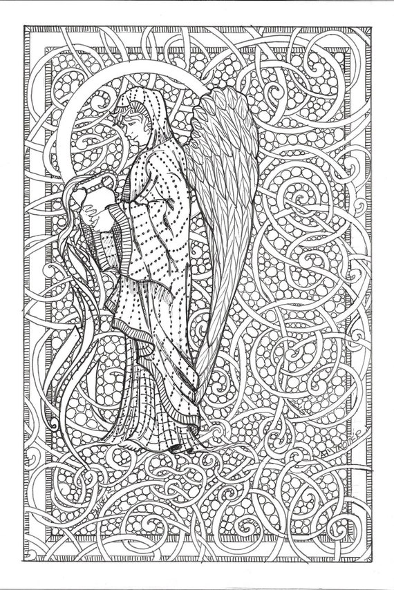 angel coloring pages for adults pictures to pin on pinterest